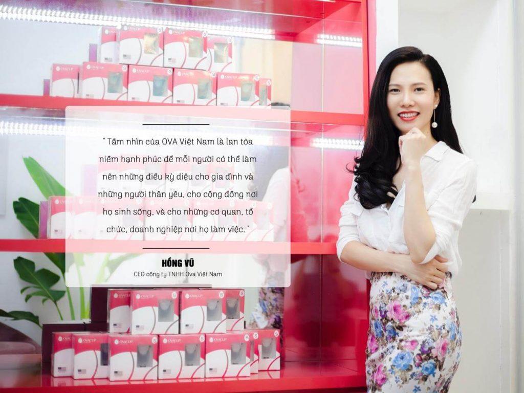 Ms. Hồng Vũ - CEO Công ty TNHH OVA Việt Nam 2