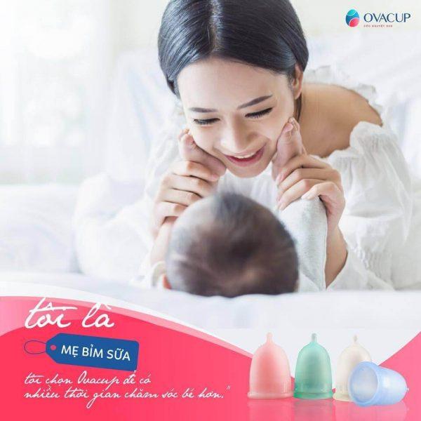 Với phụ nữ sau sinh, cốc nguyệt san giúp mẹ có thêm thời gian chăm sóc chính mình và em bé!