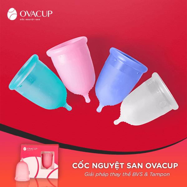 Cốc nguyệt san Ovacup với 4 màu hiện đại, giúp nàng thỏa sức chọn lựa theo sở thích, cá tính