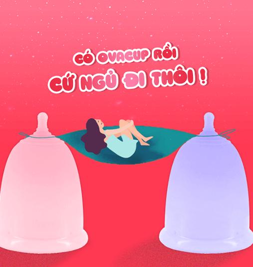 Sử dụng cốc nguyệt san khi ngủ để có một giấc ngủ ngon