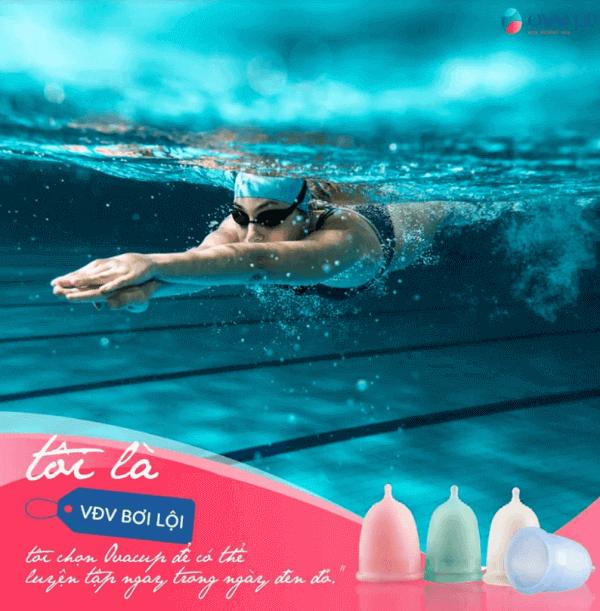 Nếu không sử dụng cốc nguyệt san hoặc tampon, không chị em nào dám tham gia bơi lội trong ngày đèn đỏ