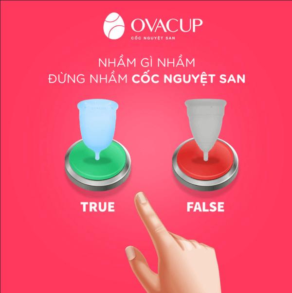 Cốc nguyệt san Ovacup có thiết kế tối ưu để phù hợp với cơ địa của phụ nữ Việt