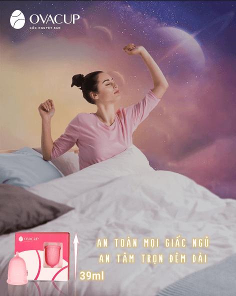 An tâm trọn giấc với cốc nguyệt san