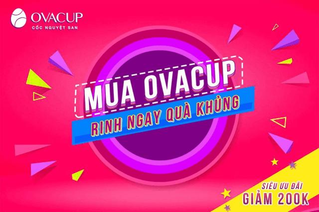 Còn chần chừ gì mà không mua ngay cốc nguyệt san Ovacup bán tại Hà Nội với những chương trình hấp dẫn!