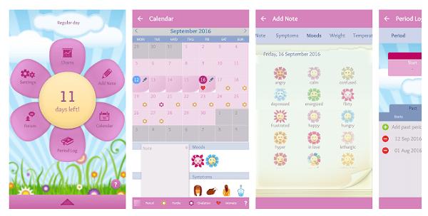 Beallabeat Period Diary là ứng dụng tuyệt vời cho việc lên kế hoạch mang thai và tránh thai của bạn